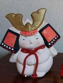 "Thumbnail of ""5月人形 陶器置物  ミニ飾り"""
