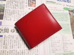 """Thumbnail of """"レザークラフト 二つ折り財布 国産高級コードバン使用(色:ルージュ)"""""""