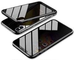 "Thumbnail of ""両面強化ガラス iPhoneXRケース 覗見防止 ブラック"""