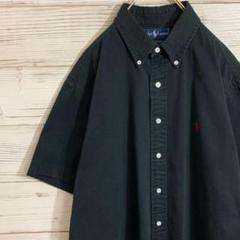"""Thumbnail of """"ラルフローレン 肉厚コットンシャツ 黒赤 XL ビッグサイズ 人気カラー"""""""