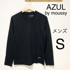 """Thumbnail of """"★新品★AZUL by moussy メンズ長袖Vネックカットソー 黒 S"""""""
