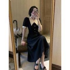 "Thumbnail of ""ぽっちゃりワンピ夏の新サイズ冷たい風の女装高級感ロングスカート春78"""