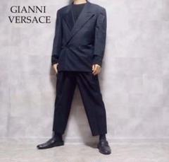 "Thumbnail of ""GIANNI VERSACE ネイビー ウール ダブルジャケット セットアップ"""
