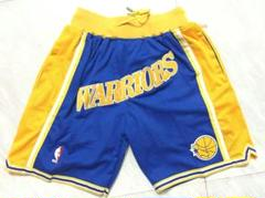 "Thumbnail of ""NBAウォリアーズ1995-96の復刻の青いジャストドンショーツJUST Dx"""