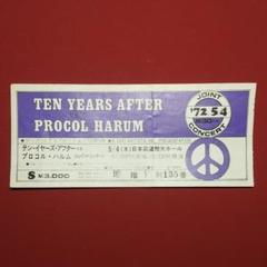 """Thumbnail of """"TEN YEARS AFTER&PROCOL HARUM(使用済み)チケット"""""""
