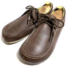 """Thumbnail of """"MERRELL メレル 27cm 革靴 モカシン シボ皮 ブラウン"""""""