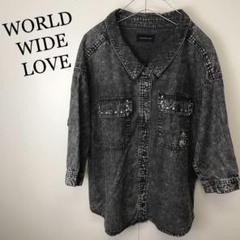 "Thumbnail of ""WORLD WIDE LOVE ケミカルウォッシュ 7分袖 シャツ"""