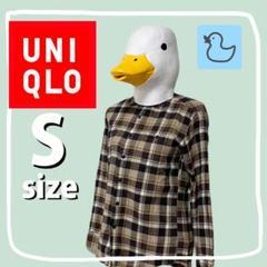 """Thumbnail of """"UNIQLO ユニクロ フランネル チェック シャツ 茶色"""""""