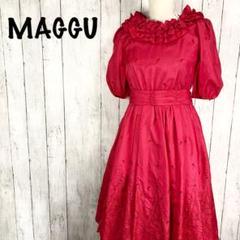 """Thumbnail of """"MAGGU マグー バラ柄 ドレス ロング ワンピース 赤 レッド"""""""
