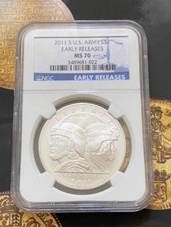 """Thumbnail of """"2011年 アメリカ 1ドル銀貨  EARLY REREASES 最高鑑定品!"""""""