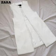 "Thumbnail of ""ZARA  ザラ ロングベスト  刺繍 ノーカラー"""