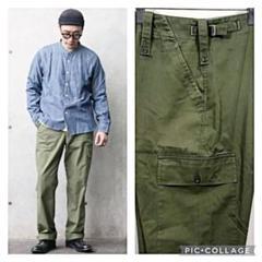 "Thumbnail of ""良品 片ポケット W35 イギリス軍 実物 ファティーグ パンツ"""