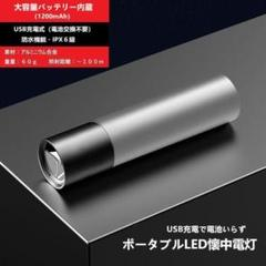 "Thumbnail of ""【新品】超高輝度 USB充電式・防水ポータブルLED式懐中電灯(色グレー)"""