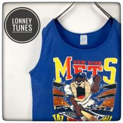"Thumbnail of ""《激レア》ルーニーテューンズ×MLB 90s☆ニューヨークメッツTAZ Tシャツ"""