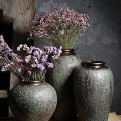 """Thumbnail of """"花瓶の装飾ヴィンテージクレイポットドライ花瓶のスリーピースセット4"""""""