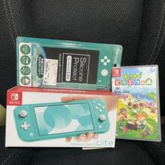"Thumbnail of ""【送料込み】Nintendo Switch  ターコイズ どうぶつの森セット"""