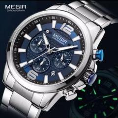 "Thumbnail of ""【 1点限り❗】MEGIR クォーツ クロノグラフ 腕時計"""
