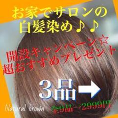 "Thumbnail of ""お家で本格サロンの白髪染め(明るい8NBナチュラルブラウン1回分)"""