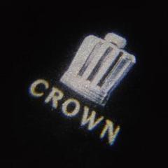 "Thumbnail of ""CROWN シンプルロゴ ドアカーテシライト シルバー 2個セット"""