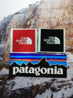 "Thumbnail of ""ノースフェイス☆ミニロゴ☆赤黒+パタゴニア patagonia ミニステッカー"""