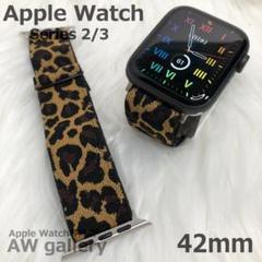 """Thumbnail of """"Apple Watch 本体 42 カジュアル バンド ヒョウ柄"""""""