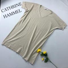 "Thumbnail of ""CATHRINE HAMMEL ニットワンピース ロング丈ニット ラメ 麻混 春"""