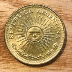 "Thumbnail of ""アルゼンチン「5月の太陽」1ペソ硬貨"""