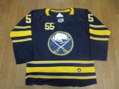"Thumbnail of ""NHL BUF セイバーズ 55番 アイスホッケー ジャージ 52サイズ"""