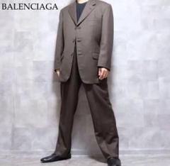 "Thumbnail of ""BALENCIAGA ブラウン ウール テーラードジャケット セットアップ"""