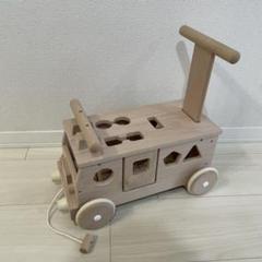"Thumbnail of ""【おもちゃ】手押し車 木製 乗り物 乗用玩具 森のパズルバス"""