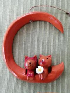 "Thumbnail of ""バリ 猫 壁掛け"""