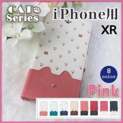 "Thumbnail of ""iPhone XR 手帳型 ピンク 桃 白 猫/224"""