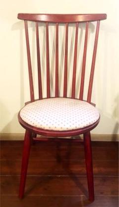 "Thumbnail of ""赤い椅子 イス アンティーク  レトロ 昭和"""