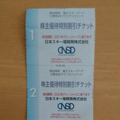 "Thumbnail of ""日本スキー場開発 NSD 株主優待特別割引チケット"""