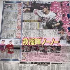 "Thumbnail of ""西日本スポーツ新聞 切り抜き 1枚 「泉圭輔 松井裕樹」"""