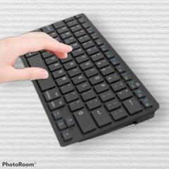 "Thumbnail of ""注目の品‼シンプルなデザインで使いやすい♡黒♡ワイヤレスキーボード"""
