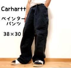 "Thumbnail of ""【大人気】Carhartt ペインターパンツ ダック地 革ロゴ 黒 38×30"""