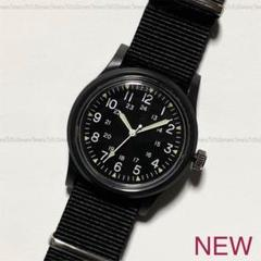 """Thumbnail of """"ブラックBLACKカラー☆ミリタリーウォッチ型デザイン☆シンプルデザイン☆腕時計"""""""