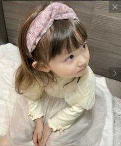 "Thumbnail of ""KIDSフラワー刺繍ターバン3coins花柄刺繍フラワーインスタパープル"""