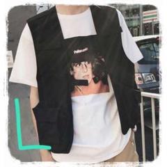 """Thumbnail of """"★24時間限定セール★新品 ミリタリー カジュアルベスト アウトドア 黒 L"""""""