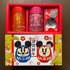 "Thumbnail of ""ディズニーリゾート 日本茶缶2点セットパッケージ ティースプーン付き"""