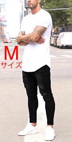 """Thumbnail of """"メンズ ダメージジーンズ ダメージデニム スキニー パンツ ブラック M"""""""