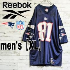 "Thumbnail of ""【NFL×Reebok】ペイトリオッツゲームシャツ#81 MOSS【メンズXL】"""