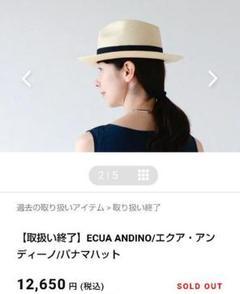 "Thumbnail of ""ECUA ANDINO/エクア・アンディーノ/パナマハット"""
