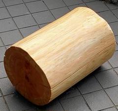 """Thumbnail of """"(はっちさん専用) 天然ヒノキ椅子(直径25cm高さ39cm)"""""""