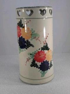 "Thumbnail of ""送料無料!陶器製、傘立て。ハートが可愛い、綺麗な花柄、小難あり5-10"""