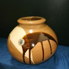 "Thumbnail of ""陶器、小石原焼き花瓶"""