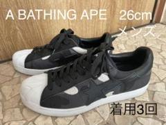 """Thumbnail of """"men's スニーカー ロー APE エイプ カモフラ 26cm 黒"""""""