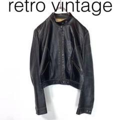 """Thumbnail of """"W2996*Vintage レザージャケット 黒ブラック 42"""""""