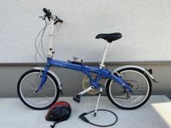 "Thumbnail of ""DAHON route 20インチ ヘルメット付き 青 ブルー 送料込み"""